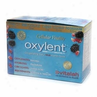 Oxylent Oxygentaing Multivitamin Drink, Packets, Sparkling Blackberry Pomegranate