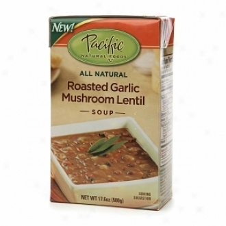 Pacific Natural Foods All Natural Soup, Roasted Garlic Mushroom Lentil