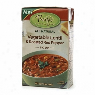 Pacific Natural Foods All Natural Soup, Vegetable Lentil & Roasted Red Pepper Soup