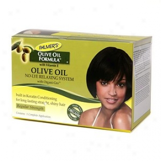 Palmer's Olive Oil Formula No-lye Relaxing System With Organi-gro, Regular Strength