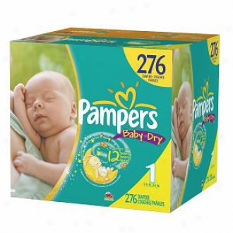 Pampers Baby Dry Diapers, Economy Plus Gang, Size 1, 8-14 Lbs, 276 Ea