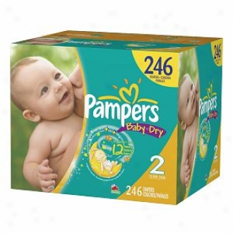 Pampers Baby Free from moisture Diapers, Economy Plus Pack, Size 2, 12-18 Lbs, 246 Ea