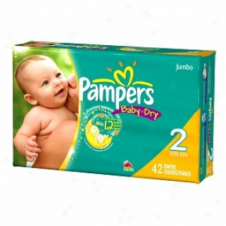 Pampers Baby Free from moisture Diapers, Jumbo Pack, Size  2, 12-18 Lbs, 42 Ea