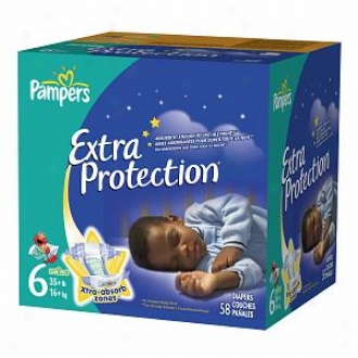 Pampers Extra Protection Diapers, Super Pack, Size 6, 58 Ea