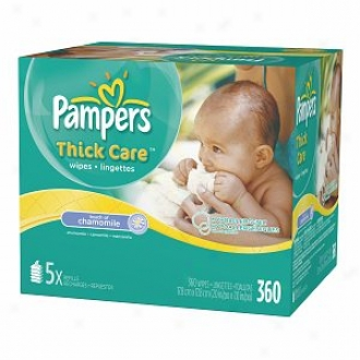 Pampers Thickcare Wipes,B ulk Pack, Touch Of Chamomile