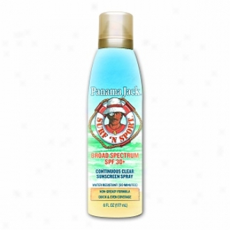 Panama Jack Surf 'n Sport, Continous Clear Spray Sunscreen, Spf 30
