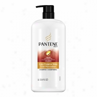 Pantene Pro-v Color Hair Solutions Cilor Preserve Shine Shampoo With Punp