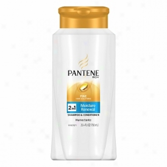 Pantene Pro-v Fine Hair Solutions Moisture Renewal 2-in-1 Shampoo And Conditioner