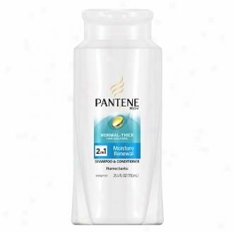 Pantene Pro-v Normal -thick Moisture Renewal 2-in-1 Shampoo And Conditioner