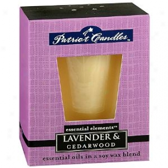 Patriot Essential Elements Soyy Candle, Lavender And Cederwood