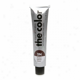 Paul Mitchell The Complexion Permanent Cream Hair Color - For Professional Use, 2n - Darkest Natural Brown
