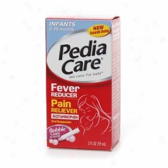 Pediacare Infant's Febrile affection Reducer/pain Reliever Acetaminophen Oral Suspension, Bubble Gum Flavor