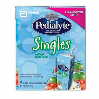 Pedialyte Spoken Electrolyte Maintenance Solution, Singles, Apple