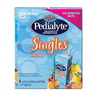 Pedialyte Oral Electrolyte Maintenance Solution, Singles, Fruit