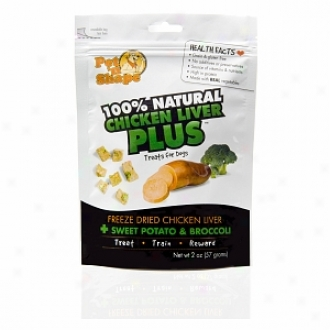 Pet 'n Shape 100% Natural Chicken Liver Plus Treats For Dogs, Sweet Potato & Broccoli