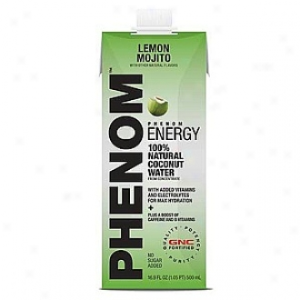 Phenom Energy 100% Natural Coconut Water, Lemon Mojio