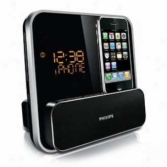 Philips Led Iphone/ipod Docking Station Clock Radio (dc315/37)