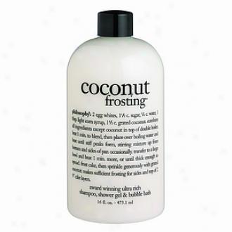 Philosophy 3-in -1 Ultra Rich Shampoo, Shower Gel & Bubble Bath, Coconut Frosting