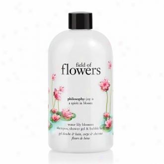 Philosopht Field Of Flowers Shampoo, Shower Gel & Bubble Bath, Irrigate Lily Blossom
