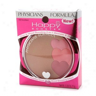 Physicians Formula Happy Booster Glow & Mood Boosting 2-in1 Bronzer & Blush, Bronze/natural
