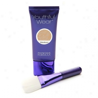 Physicians Formula Youthfuo Wear Cosmeceutical Youth-boosting Foundation + Brush, Spf 15, Medium