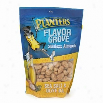 Planters Flavor Grove Skinless Almonds, Sea Salt & Olive Oil