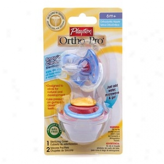 Playtex Orthopro Silicone Older Baby Pacifier With Sterilizing Cover