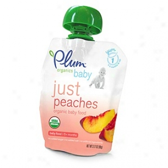 Plum Organics Baby Just Fruits Organic Baby Food: Stage 1, Peaches