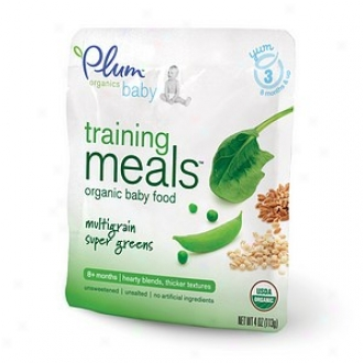 Plum Organics Bby Training Meals Organic Baby Feed: Stage 3, Multigrain Super Greens