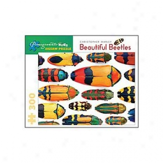 Pomegranate Communications Beautiful Beetles Puzzle: 300 Pc Ages 8 And Up