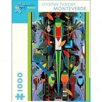 Pomegranate Communications Charley Harper Monteverse Puzzle 1000 Pcs Ages 12+