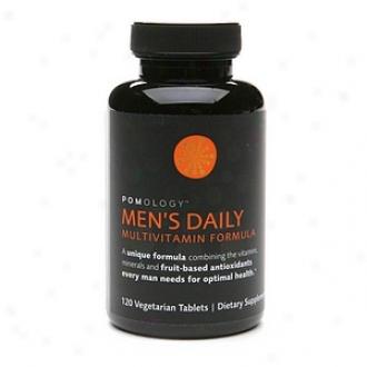 Pomology Men's Daily Multivitamin Formula, Vegetarian Tablets