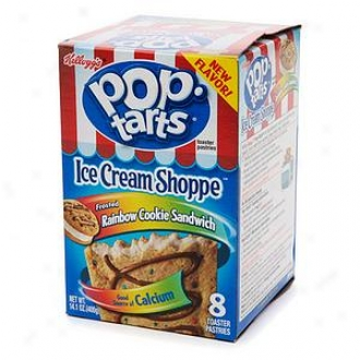 Pop Tarts Ice Cream Shoppe Toaster Pastries, Rainbow Cookie Sandwich