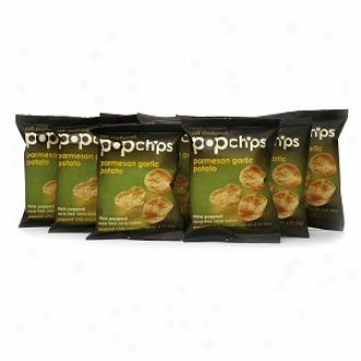 Popchips Popped Snack Chips, Parmesan Garlic (24 X .8oz Bags)