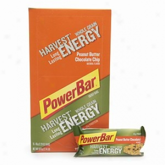 Powerbar Harvest Whole Grain Long Lasting Energy Bars, Peanut Butter Chocolate Chip