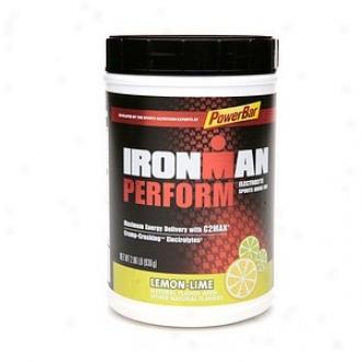 Powerbar Ironman Perform Electrolyte Sports Drink Mix, Lemno-lime