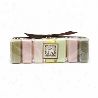 Pre De Provence Luxury Soap Gift Pack, Set Of 7, Sage, Coconut, Apple