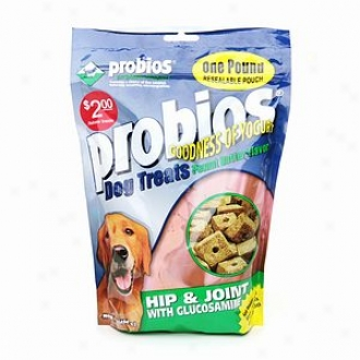 Probios Dog Treats, Hip And Juncture With Glucosamine, Peanut Butter Flavor