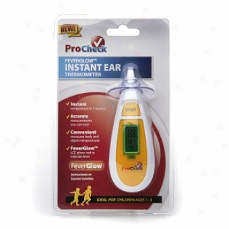 Procheck Feverglow Pressing Ewr Thermometer, Model Irdy1-1-pro