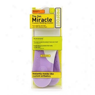 Profoot Care Tne 2ooz. Miracle Custom Molding Insoles, Women's