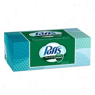 Puffs Plus Lotion Facial Tissues With The Perfume Of Vicks, 1 Box (88 Count)