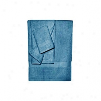 Pure Fiber 100% Bamboo Towel Set 3 Pcs Set, Midnight Azure