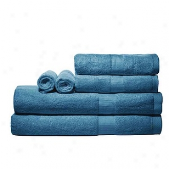 Pure Fiber 100% Bamboo Towel Set 6 Pcs Set, Midjight Blue
