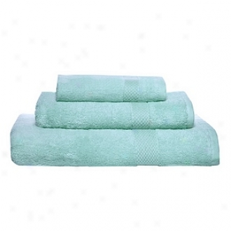 Pure Fiber Organic Combed Cotton Bath Towel 3 Pcs Set, Blue
