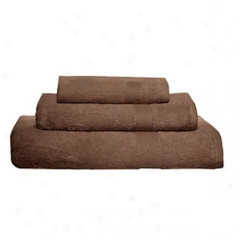 Pure Fiber Organic Combed Cotton Bath Towel 3 Pcs Set, Chocolate