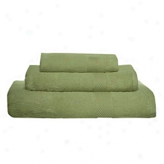Pure Fiber Organic Combed Cotton Bath Towel 3 Pcs Set, Sage Green