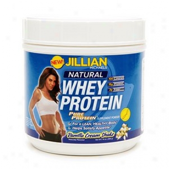 Pure Protein Jillian Michaels Natural Whey Protein, Vanilla Cream Shake