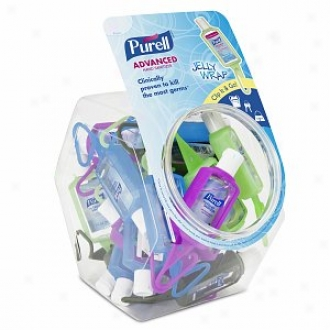 Purell Advanced Hand Sanitizer With Jelly Envelop Carrier Dsplay Bowl