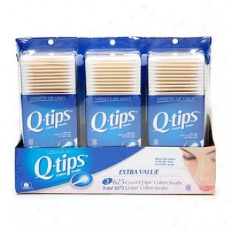 Q-tips Cotton Swabs, Triple Pck