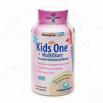 Rainbow Light Kids One Multistars Chewable Multivitamin/mineral, Offspring Punch